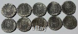 (10) 1622 Atocha Silver COB 8 Reales Daniel Carr-Moonlight Mint. 28g. 999 Fine