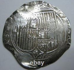 1400s CATHOLIC KINGS 2 REAL COB SEVILLA SPANISH COLONIAL ISABEL&FERDINAND SILVER