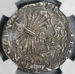 1469 NGC XF 45 Spain Ferdinand Isabella 4 Reales Columbus Cob Coin 20112302C