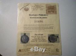 1500 Late Atocha Era Bolivia 8 Reales 8r Dollar Silver Cob Colonial Gold Pendant
