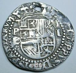 1500's Bolivia Silver 1 Reales Philip II Antique XF-AU Details Colonial Cob Coin