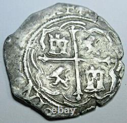 1500's Mexico Silver 1 Reales Antique Spanish Colonial Pirate Cob Treasure Coin