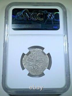 1500's POD Philip II Peru Shipwreck Silver 1 Reales Spanish Colonial Cob Coin