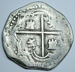 1500's Potosi B Philip II Spanish Bolivia Silver 1 Reales Old Pirate Cob Coin