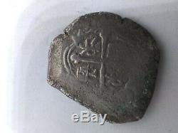 1500's Shipwreck Spanish Mexico Silver 8 Reales Eight Real Old Pirate Cob Coin