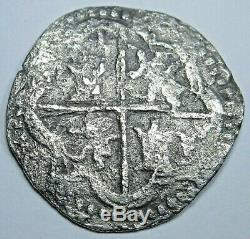 1500's Shipwreck Spanish Silver 1 Reales Old Antique Colonial Pirate Cob Coin