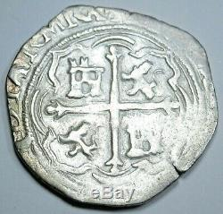1500's Spanish Mexico Silver 1 Reales Antique Colonial Pirate Treasure Cob Coin