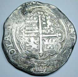 1500's Spanish Mexico Silver 4 Reales Philip II Antique Colonial Pirate Cob Coin