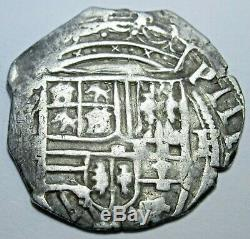 1500's Spanish Silver 1 Reales Piece of 8 Real Colonial Pirate Cob Treasure Coin