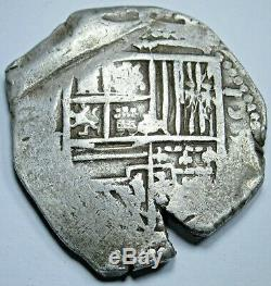 1500's Spanish Silver 4 Reales Piece of 8 Real Colonial Pirate Cob Treasure Coin