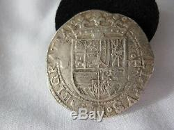 1500's Spanish Silver 8 Reales Philip II Colonial Silver Cob Coin