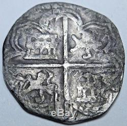 1500s COB 1 REALES SPANISH SILVER COIN ONE REAL SPAIN PIRATE SHIPWRECK TREASURE