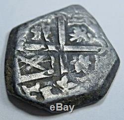 1500s Spanish Silver 1 Reales Cob Piece of Eight Real US Colonial Treasure Coin