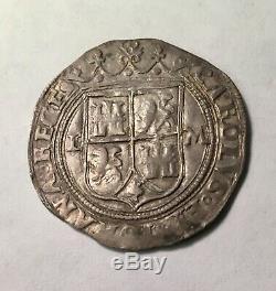 1516-56 M L Silver Mexico 1 Real Carlos & Joanna Colonial Cob