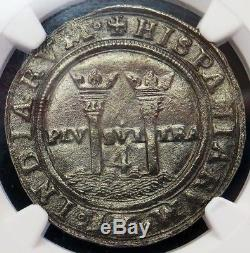 1542-1555 M A Silver Mexico 4 Reales Carlos & Joanna Colonial Cob Ngc Xf 45