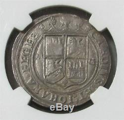 1542-55 M G Silver Mexico 4 Reales Carlos & Joanna Colonial Cob Ngc About Unc 53