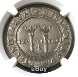 1542-55 Silver Mexico 4 Reales Carlos & Joanna Cob Ngc Xf 45