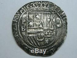 1555-98 Philip II 4 Real Cob Potosi Bolivia Spain Colonial Era Spanish Silver