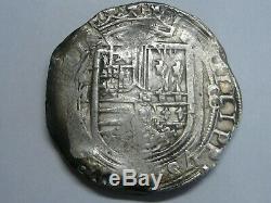 1555-98 Philip II 8 Reales Cob Mexico Assayer F Spanish Colonial Era Silver Coin