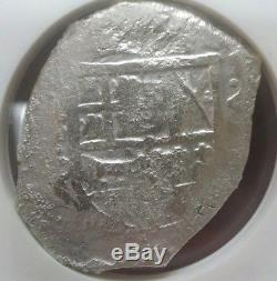 1556-1622 Sao Jose Spanish Cob 8 Reales NGC Shipwreck Certified Rare Silver Coin