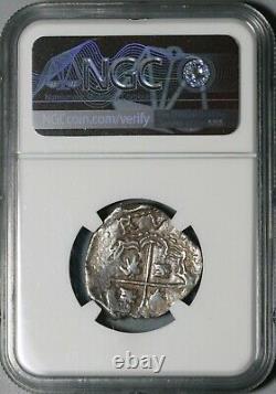 1574 NGC AU 55 Bolivia 2 Reales Philip II Cob Spain Coin POP 1/0 (21021601D)
