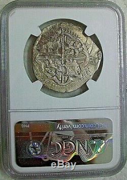 1592 C Spain Felipe II Silver Cob 4 Reales Ngc Vf Details Very Rare