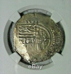1595 Spain Felipe II Silver Cob 4 Reales Ngc Au-details 13.12 Grams Ship Wreck