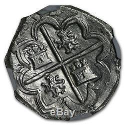 1595 Spain (Segovia) Silver 4 Reales Cob Phillip II MS-62 NGC SKU#185668