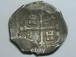 1598-1665 Spanish Silver 4 REALES COB MEXICO ASSAYER D COLONIAL ERA