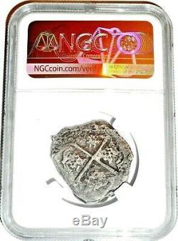 1598-1732 Princess Louisa COB Reales Shipwreck Coin NGC Certified, Very Rare
