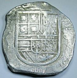 1599-1608 Mexico Silver 8 Reales 1500's-1600's Spanish Colonial Pirate Cob Coin