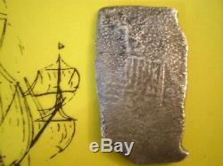 1600 Era Mexico 8 Reales Joanna Shipwreck Cob Colonial Silver Coin