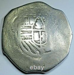 1600's Mexico Silver 4 Reales Antique Spanish Colonial Pirate Treasure Cob Coin