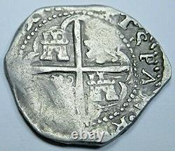 1600's Rare Valladolid Spanish Silver 1 Reales Antique Colonial Pirate Cob Coin