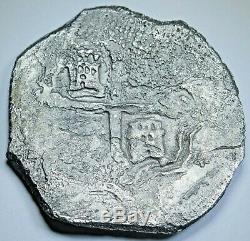1600's Shipwreck Spanish Mexico Silver 8 Reales Genuine Antique Pirate Cob Coin