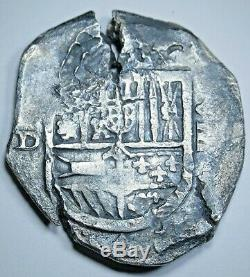 1600's Shipwreck Spanish Silver 8 Reales Cob Eight Real Colonial Treasure Coin