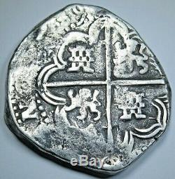 1600's Spanish Bolivia Silver 8 Reales Potosi TR Colonial Dollar Pirate Cob Coin