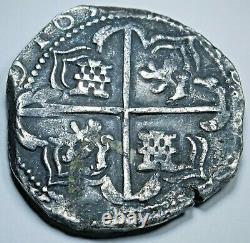 1600's Spanish Bolivia Silver 8 Reales Potosi T Colonial Dollar Pirate Cob Coin