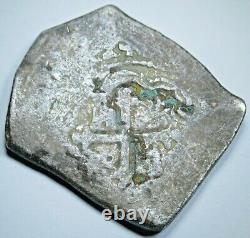 1600's Spanish Mexico Silver 8 Reales Genuine Antique Colonial Pirate Cob Coin