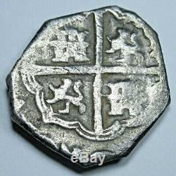 1600's Spanish Silver 1 Reales Cob Piece of 8 Real Colonial Pirate Treasure Coin
