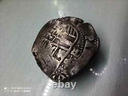 1600's Spanish Silver 8 Reales Cob Antique Colonial Dollar Pirate Treasure Coin