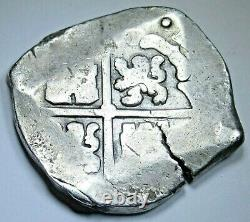 1600's Spanish Silver 8 Reales Genuine Spanish Colonial Dollar Pirate Cob Coin