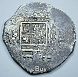 1600's XF-AU Spanish Silver 4 Reales Antique Colonial High Grade Pirate Cob Coin