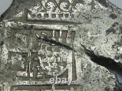 1600s 8 REAL COB SEVILLA SPANISH SILVER DOLLAR COLONIAL ERA ANTIQUE COB
