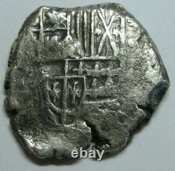 1600s PHILIP III POTOSI 2 REAL COB BOLIVIA 8.06 gr! SPANISH SILVER COLONIAL