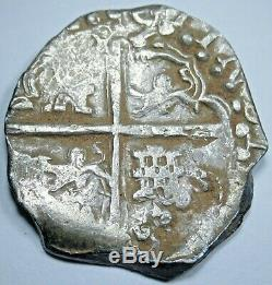 1600s Porto Bello Hoard Spanish Silver 4 Reales Antique Pirate Treasure Cob Coin