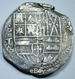 1600s Spanish Potosi Silver 8 Reales Eight Real Antique Colonial Pirate Cob Coin