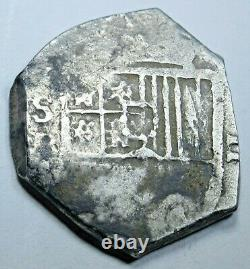1600s Spanish Silver 2 Reales Genuine Antique Colonial Two Bit Treasure Cob Coin