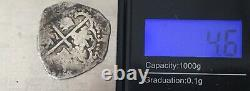 1600s Spanish Spain 2 Reales Real Cob Silver Coin Colonial Treasure Coin (C093)