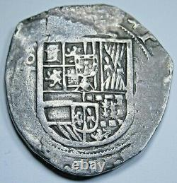 1600s Spanish Toledo Silver 2 Reales Antique High Grade Colonial Pirate Cob Coin